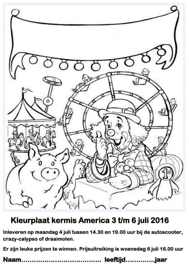 Kleurplaat Kermis America 3 T M 6 Juli 2016