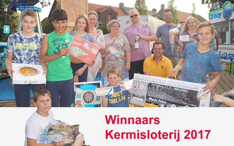 Prijswinnaars Kermisloterij 2017
