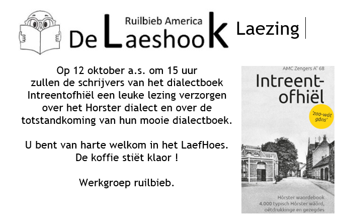 Lezing Horster dialect in Ruilbieb De Laeshook