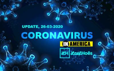 Coronanieuws America, Update 26-03-2020