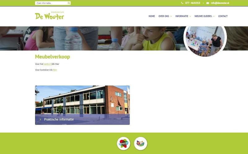 Meubelverkoop Kindcentrum De Wouter