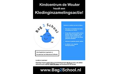 Bag2school kledinginzameling Kindcentrum De Wouter 2021